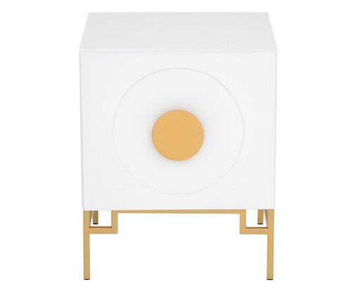 Mesa de Cabeceira Cerchio D'Oro - Branca, Branco | WestwingNow