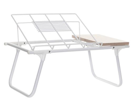 Mesa de Colo Dobrável de Aço Nick - Branco, white,white | WestwingNow