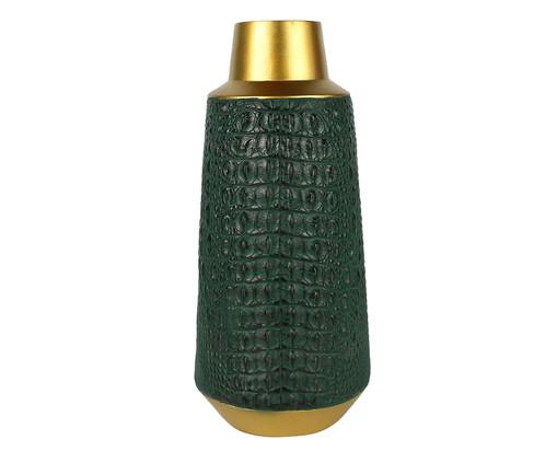 Vaso Lorrie - Verde e Dourado, Verde, Dourado | WestwingNow