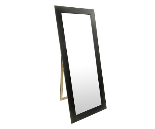 Espelho de Chão de Madeira Amália - Preto, Preto | WestwingNow