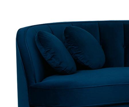 Sofá Living em Veludo Marilyn - Azul | WestwingNow