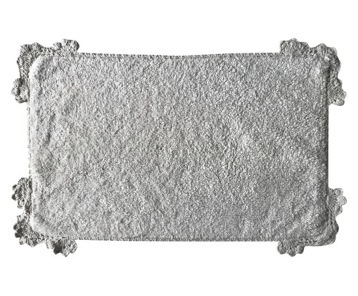 Tapetinho de Banheiro Abel - Branco, Branco | WestwingNow