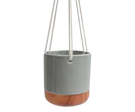 Cachepot de Cerâmica Pendente Cobi - Cinza | WestwingNow
