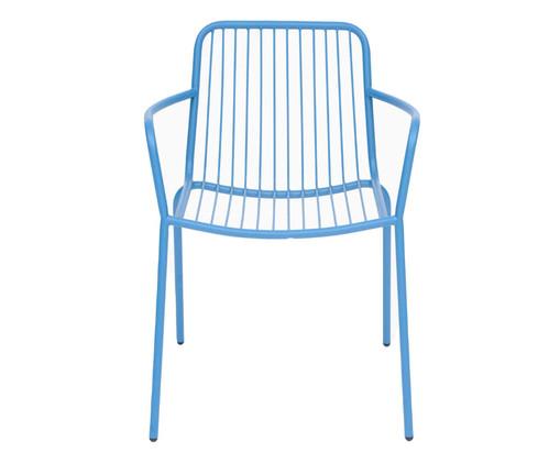 Cadeira com Braços Grid - Azul, Azul | WestwingNow