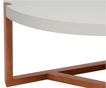 Mesa de Centro Redonda Geometric - Branca | WestwingNow