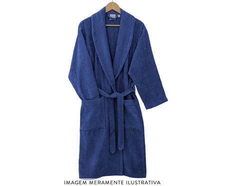 Roupão de Banho 100% Algodão Fio Penteado Urban - Azul | WestwingNow