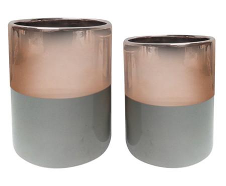 Jogo de Vasos Naava - Rosé e Cinza | WestwingNow