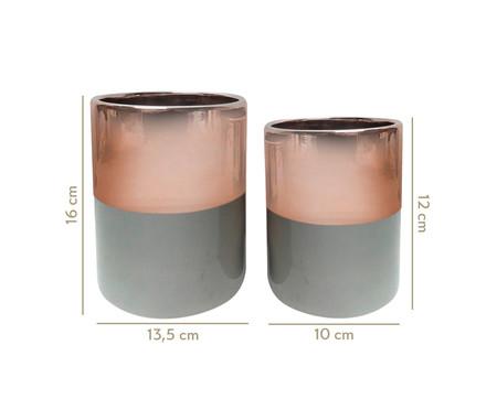 Jogo de Vasos de Cerâmica Naava - Rosé e Cinza | WestwingNow