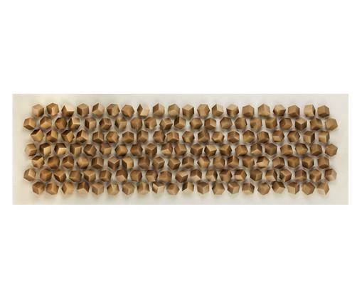 Quadro Big Cubes Dourado - 180x60cm, Dourado | WestwingNow