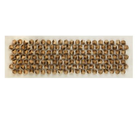 Quadro Big Cubes Dourado - 180x60cm | WestwingNow