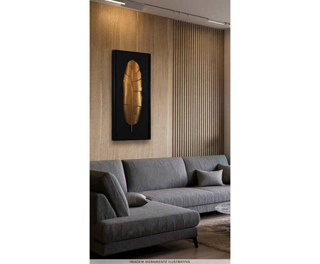 Quadro Juliette Preto e Dourado - 51x121cm | WestwingNow