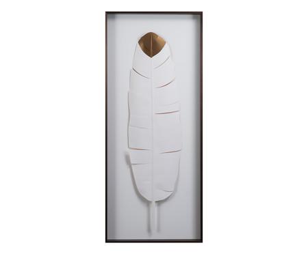 Quadro Leaves Pena Branco - 51x121cm | WestwingNow