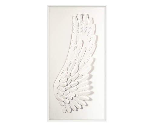 Quadro Angel Right - Branco, Branco | WestwingNow