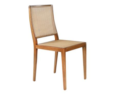 Cadeira em Madeira Maciça Isabel - Mel e Bege | WestwingNow