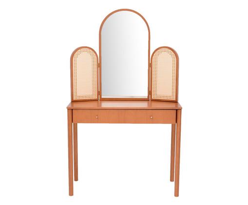 Penteadeira com Espelho Poesia - Caramelo, Natural | WestwingNow