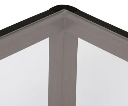 Mesa de Centro de Madeira e Vidro Itapuã - Ébano | WestwingNow