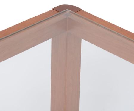 Mesa de Centro de Madeira e Vidro Itapuã - Caramelo | WestwingNow