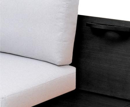 Sofá de Algodão Elis - Ébano e Cinza Claro | WestwingNow