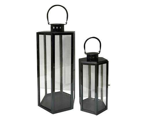 Jogo de Lanternas de Metal Orlice - Preto, Preto | WestwingNow