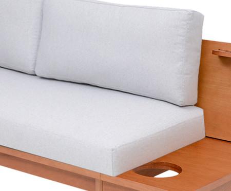 Sofá de Algodão Elis - Caramelo e Cinza Claro | WestwingNow