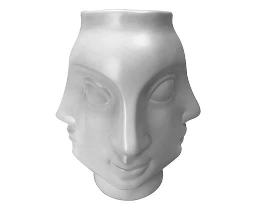 Vaso Faces - Branco, Branco | WestwingNow
