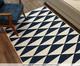 Tapete Dupla Face Kayla Ivy - Branco e Azul, Multicolor | WestwingNow