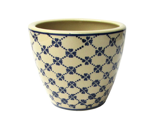 Cachepot de Cerâmica Cobé II - Bege e Azul, Bege, Azul | WestwingNow