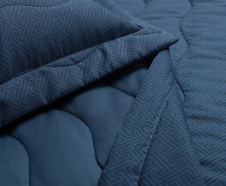 Jogo de Cobre-Leito Dupla Face Marino 300 Fios - Azul | WestwingNow