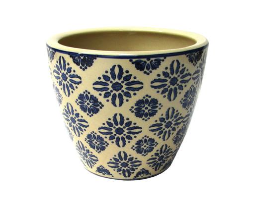 Cachepot de Cerâmica Gil - Bege e Azul, Bege, Azul | WestwingNow