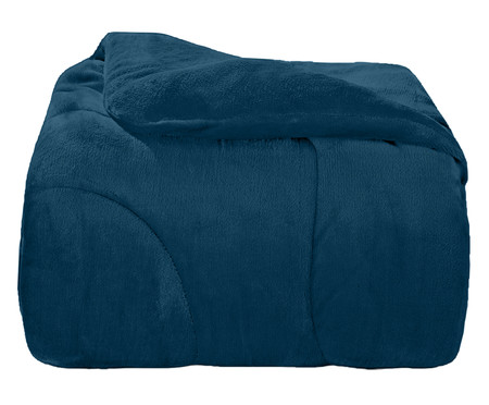 Edredom Inove Liso em Plush - Azul | WestwingNow