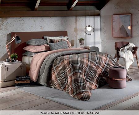 Cobertor Sherpa Slim Xadrez - Urbano | WestwingNow