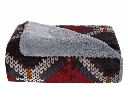 Cobertor Sherpa Slim Tricô - Cinza | WestwingNow