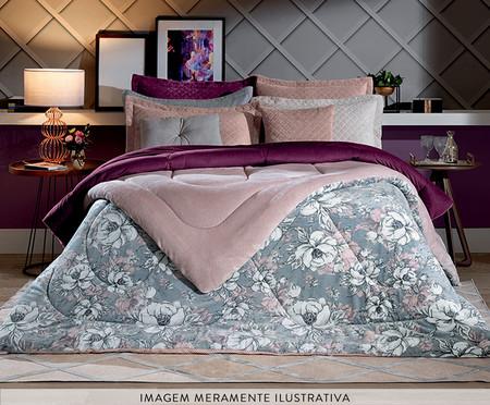 Cobertor Sherpa Slim Floral Silhuetado | WestwingNow
