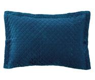 Porta-Travesseiro Inove Liso - Azul Pacífico | WestwingNow