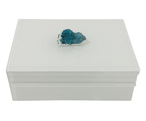 Caixa Decorativa de Vidro Darden - Branca, Branco | WestwingNow