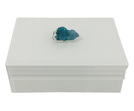 Caixa Decorativa de Vidro Darden - Branca | WestwingNow