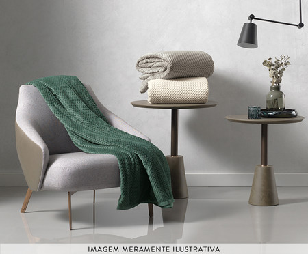 Cobertor Flannel Fleece Ivy - Bege | WestwingNow