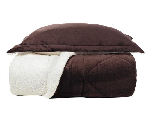 Jogo de Edredom com Porta-Travesseiro Sonata - Chocolate, Chocolate   WestwingNow