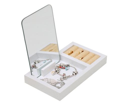 Porta-Jóias com Espelho Fantastic Box - Branco, branco   WestwingNow