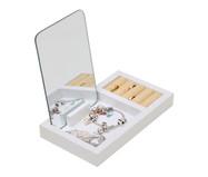Porta Joias com Espelho Fantastic Box - Branco | WestwingNow
