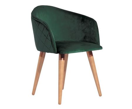 Cadeira em Veludo e Madeira Kari Ta - Verde | WestwingNow
