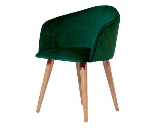 Cadeira em Veludo e Madeira Kari Ta - Verde, Verde | WestwingNow
