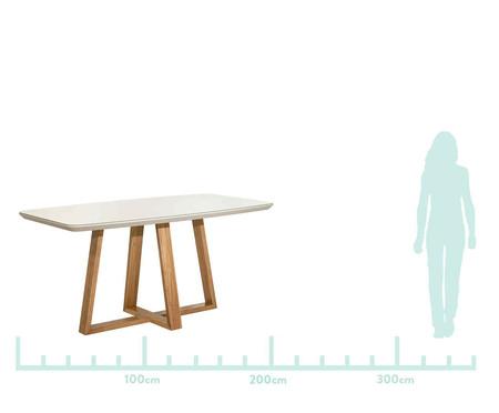 Mesa de Jantar Retangular de Madeira Bennet - Off White | WestwingNow