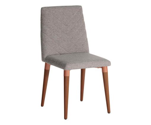 Cadeira de Madeira Liv - Cinza, Cinza | WestwingNow