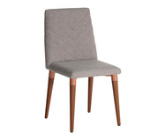 Cadeira de Madeira Liv - Cinza | WestwingNow