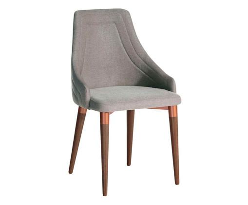 Cadeira em Madeira Evelyn - Cinza e Cobre, Cinza | WestwingNow