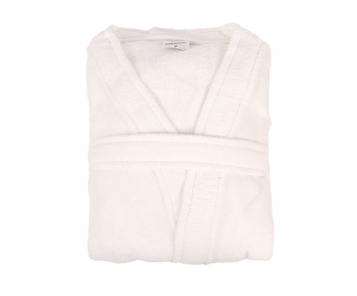 Roupão sem Gola Sofisticata - Branco, Branco | WestwingNow