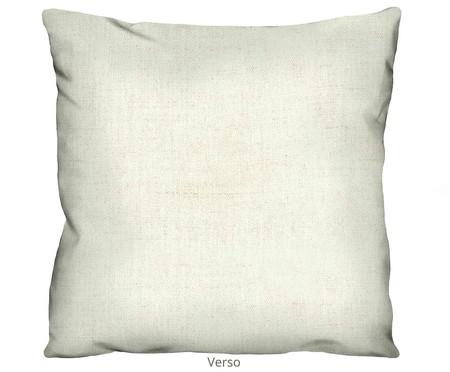 Capa de Almofada em Linho Misto Estampada Hirana - Branco | WestwingNow