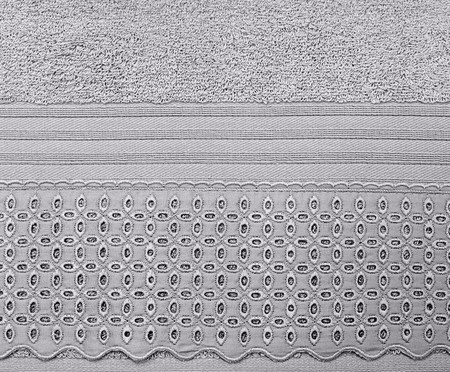 Jogo de Toalhas de Algodão Egípcio 500 g/m² Jonelle - Cinza | WestwingNow