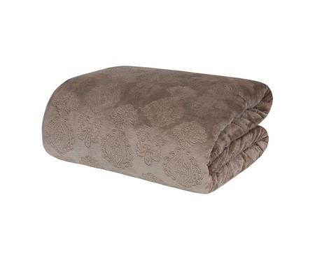 Cobertor Blanket Jacquard 300 fios - Marrom | WestwingNow